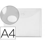 Carpeta dossier Liderpapel tamaño A4 cierre de velcro transparente