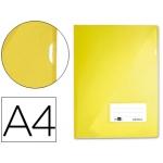 Carpeta dossier Liderpapel tamaño A4 uñero amarilla