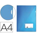 Carpeta dossier Liderpapel tamaño A4 uñero color azul
