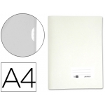 Carpeta dossier Liderpapel tamaño A4 uñero color blanca