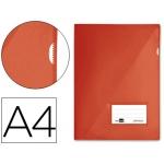 Carpeta dossier Liderpapel tamaño A4 uñero color roja