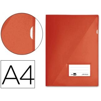 Liderpapel BL04 - Dossier uñero, A4, capacidad para 20 hojas, color rojo