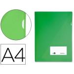 Carpeta dossier Liderpapel tamaño A4 uñero color verde