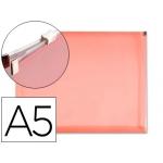 Carpeta dossier Liderpapel tamaño A5 cierre de cremallera color roja