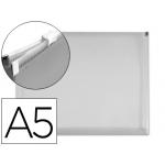 Carpeta dossier Liderpapel tamaño A5 cierre de cremallera transparente