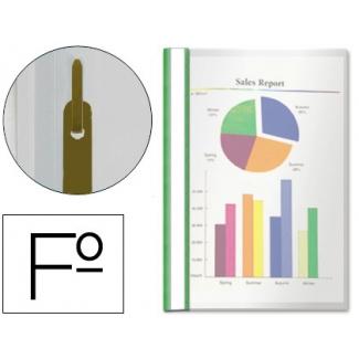 Esselte 33305-V - Dossier con fástener, tamaño folio, capacidad para 30 hojas, color verde