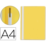 Carpeta dossier fastener plástico Q-connect tamaño A4 amarilla