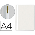 Q-Connect KF01658 - Dossier fástener, A4, capacidad para 30 hojas, color blanco