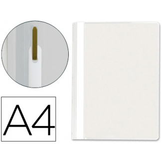 Carpeta dossier fastener plástico Q-connect tamaño A4 color blanco