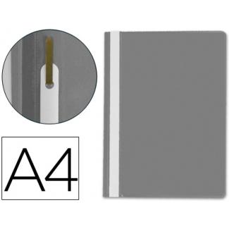 Carpeta dossier fastener plástico Q-connect tamaño A4 color gris