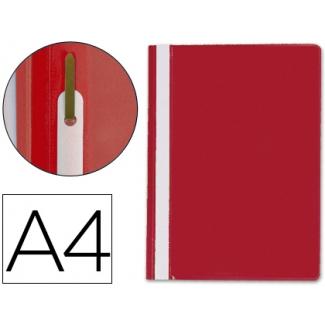 Carpeta dossier fastener plástico Q-connect tamaño A4 color roja