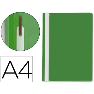 Carpeta dossier fastener plástico Q-connect tamaño A4 color verde