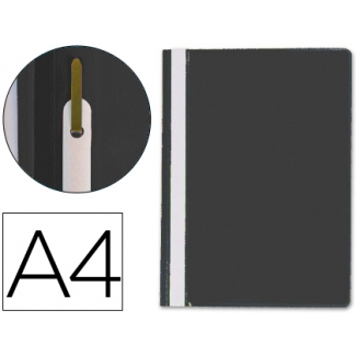 Carpeta dossier fastener plástico Q-connect tamaño A4 negra