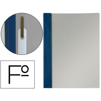 Esselte 13216 - Dossier con fástener, Tamaño folio, 150 micras, capacidad para 30 hojas, color azul marino