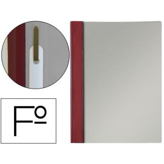 Esselte 13203 - Dossier con fástener, Tamaño folio, 150 micras, capacidad para 30 hojas, color burdeos