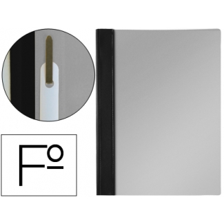 Carpeta dossier fastener pvc Esselte tamaño folio color negro
