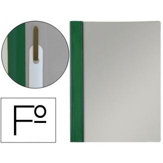 Esselte 13205 - Dossier con fástener, tamaño folio, 150 micras, capacidad para 30 hojas, color verde