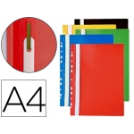 Carpeta dossier multitaladros con fastener pvc Q-connect tamaño A4 colores surtidos bolsa de 10