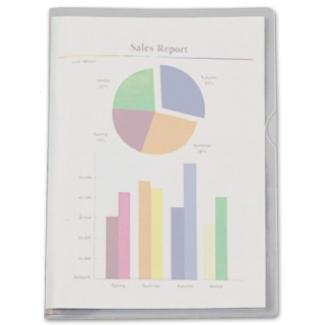 Esselte 046038 - Dossier uñero, Folio, 180 micras, color transparente