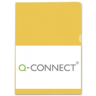 Q-Connect KF01646 - Dossier uñero, A4, 120 micras, bolsa de 10 unidades, color amarillo