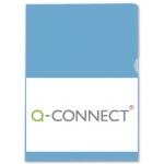 Carpeta dossier uñero plástico Q-connect tamaño A4 120 micras azul bolsa de 10 unidades