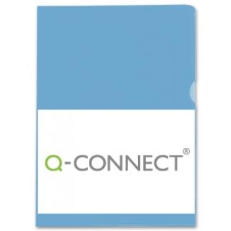 Q-Connect KF01643 - Dossier uñero, A4, 120 micras, bolsa de 10 unidades, color azul