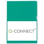 Carpeta dossier uñero plástico Q-connect tamaño A4 120 micras color verde