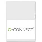 Q-Connect KF24002 - Dossier uñero, A4, 120 micras, color transparente, paquete de 100 unidades