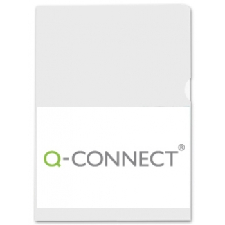 Q-Connect KF01642 - Dossier uñero, A4, 120 micras, bolsa de 10 unidades, color transparente