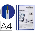 Carpeta duraplus tamaño A4 con fastener color azul Durable
