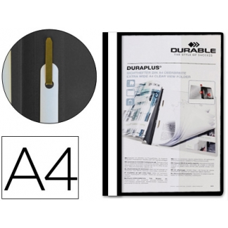 Durable Duraplus - Dossier fastener, A4, color negro