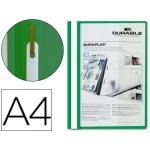 Carpeta duraplus tamaño A4 con fastener color verde Durable