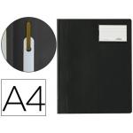 Carpeta duraplus tamaño A4 con fastener y ventanilla para tarjeta color negro Durable