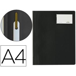 Durable Duraplus 2500 01 - Carpeta dossier con fastener, A4, con ventanilla, color negro