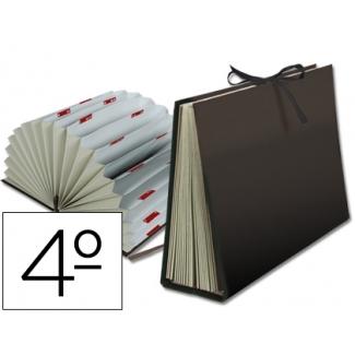 Carpeta fuelle Liderpapel tamaño cuarto cartón forrado negra