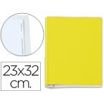 Carpeta fuelle fastener metálico cartón forrado geltex5 índices color amarillo