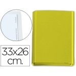 Carpeta gomas solapas fastener cartón forrado geltex 4 índices color amarillo