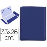 Carpeta gomas solapas fastener cartón forrado geltex color azul