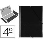Carpeta gomas solapas plástico Saro tamaño cuarto color negro