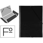 Carpeta gomas solapas plástico Saro tamaño folio negra