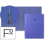 Carpeta gusanillo Liderpapel tamaño folio cartón color azul