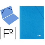 Carpeta liderpapel gomas cartón simil-prespan sencilla tamaño folio color azul