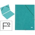 Carpeta liderpapel gomas cartón simil-prespan sencilla tamaño folio color verde