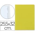 Carpeta lomo simple cartón forrado geltex 5 índices color amarillo