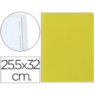 Carpeta lomo simple cartón forrado geltex 5 índices color amarillo
