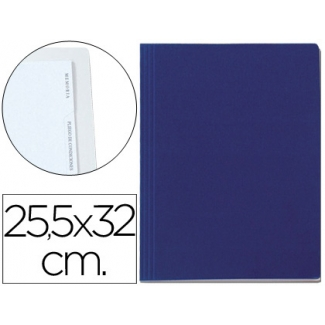 Carpeta lomo simple cartón forrado geltex 5 índices color azul