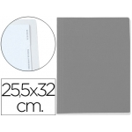 Carpeta lomo simple cartón forrado geltex 5 índices color gris