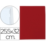 Carpeta lomo simple cartón forrado geltex 5 índices color rojo