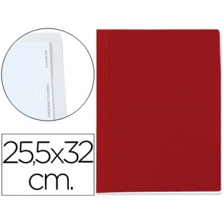 Carpeta lomo simple cartón forrado geltex 5 índices color rojo