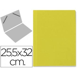 Carpeta lomo simple cartón forrado geltex color amarillo